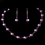Necklace Earring Set NE 8355 Amethyst