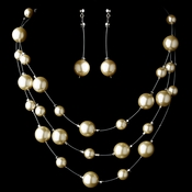 Necklace Earring Set NE 8358 Ivory