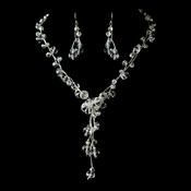 Necklace Earring Set NE 8382 Silver AB