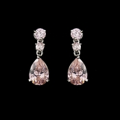 Cubic Zirconia Earrings E 2845 (Pink, Clear or Lavender)