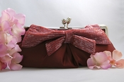 Claret Red Matte Satin Bridal Evening Bag EB 301