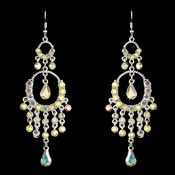 * Exquisite Silver & AB Chandelier Earrings E 801