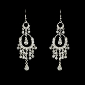 * Exquisite Silver Clear Crystal Chandelier Earrings 801