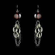 * Earring 8327 Silver red