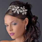 Headpiece 9993 Silver Ivory