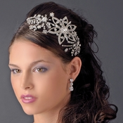 Vintage Style Silver or Antique Side Accent Headband HP 9997