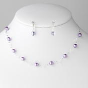 * Necklace Earring Set 207 Purple **0 Left**