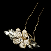 Gold Plated Bridal Hair Pin 93