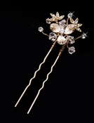 * Crystal Floral Hair Pin 058