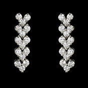 Silver Follow Me Cubic Zirconia Earrings E2024 S