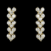 Gold Follow Me Cubic Zirconia Earrings E 2024 G