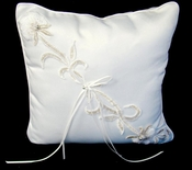 Lily Bridal Ring Bearers Pillow RP 15 - White
