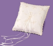 Ring Bearer Pillow 401 with Sequence RP 401 (White Only)