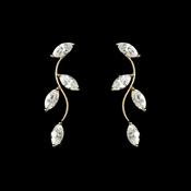 * Alluring Gold Clear CZ Vine Earrings 3522***1 Left***