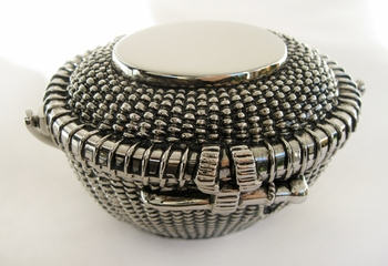 Silver Plated Nantucket Basket Jewelry Box 26031