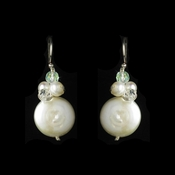 Bridal Beach Themed Coin Pearl & Crystal Earrings E 8252