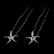 Crystal Starfish Hair Pin (Set of 2)