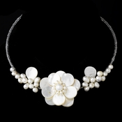 Elegant Freshwater Pearl, Beads & Shell Necklace N 8253 **Discontinued**