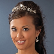 * Silver or Gold Plated Bridal Tiara HP 8266