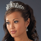 *Silver Plated Bridal Tiara HP 8270***Silver Plating Did Not Bond To The Base Metal Visible Yellow Markings***