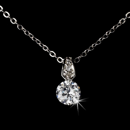 Silver Cubic Zirconia Jewlery Necklace 10716