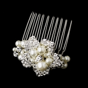 Silver Plated Bridal Comb 3473