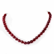 * Swarovski Crystal Necklace N 202 - Burgundy