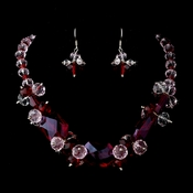 Red Necklace Earring Set 8548