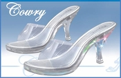 Cowry Clear Heel Light Up Evening Shoe