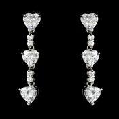 * From The Heart Silver Cubic Zirconia Earrings E 3698