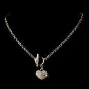 * Necklace 3843 Gold Clear