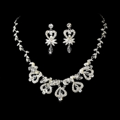 * Necklace Earring Set NE 7219 Silver & Pearl