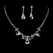 Swarovski Crystal Heart Necklace Earring Set NE 7806