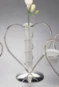Wire Heart w/ Frosted Glass Vase Centerpiece 19396 * Discontinued *