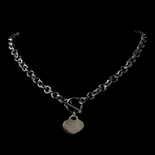 * Heart Toggle Necklace N 8004