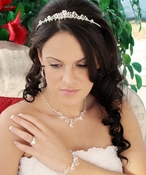Valentine Bridal Headpiece & Jewelry Set HP 7806 NE 7806 B 7806