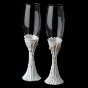 Majestic Pink Cinderella Castle Wedding Toasting Champagne Flutes