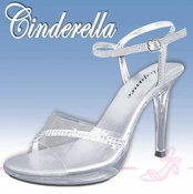 * Cinderella Adult Size  Formal Evening Shoes