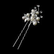Silver Ivory Clear Pin 1126