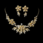 Stunning Gold Rum Jewelry Set NE 8100