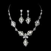 Vintage Silver Bridal Jewelry Set NE 8315