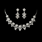 Exquisite Swarovski Crystal Choker Jewelry Set NE 534