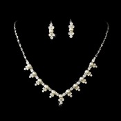 Gorgeous Crystal & Pearl Jewelry Set NE 524