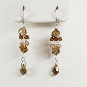 Bridal Brown Crystal Earrings E 8259