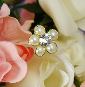 Gold Ivory Elegant Pearl & Flower Bundle 474
