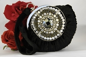 Black Velvet Velour Bridal Evening Bag EB 300