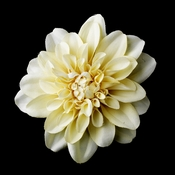 Dahlia Flower Hair Clip with Cream Petals & Centered Star Cluster Hair Clip 402