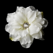 * Diamond White Jeweled Delphinium Hair Clip 434