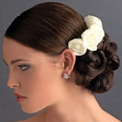 Charming Ivory Flower Bridal Hair Comb 4647