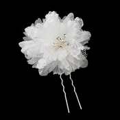 * Elegant Lace Floral Bridal Hair Pin 100 (Diamond White) Sold Individually
